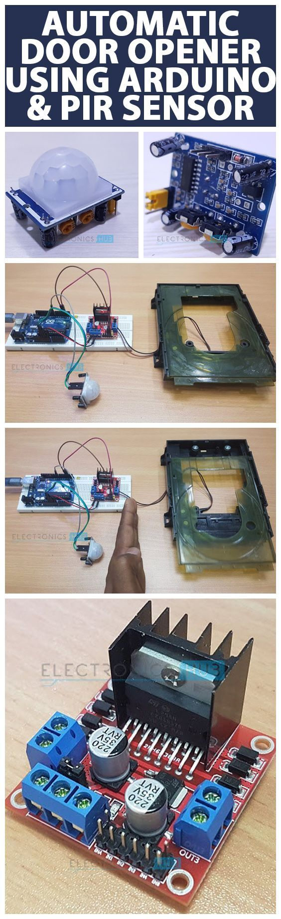 Automatic Door Opener System Using Arduino And Pir Sensor Microcontroller Based Diy Project For Power Saving An Is A Simple On Which Automatically Opens Closes The By Detecting Person Or