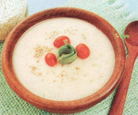 Mazamorra de Quinua con manzana