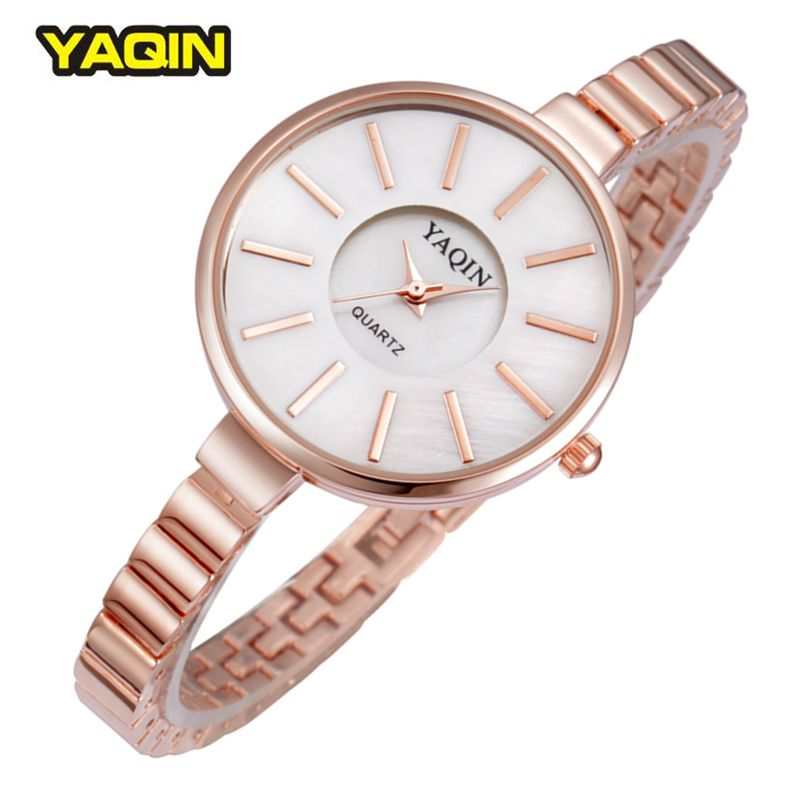 Women Watch Brand Yaqin Quality Alloy Band Luxury Bracelet Watches Fashion Lady Quartz Wristwatches Relogios Femininos Summer