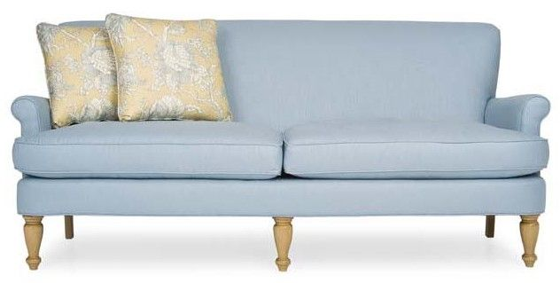 Oh A Blue Couch Upholstered Furniture Apartment Sofa Furniture
