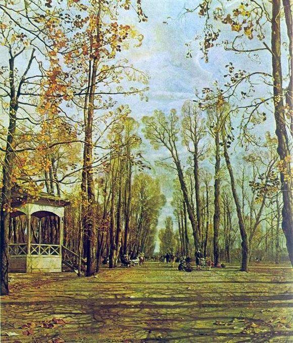 Описание картины Исаака Бродского «Летний сад осенью»: