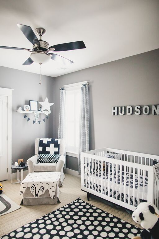 adorable little adi co nursery tour featuring bannor toys gray nurseriesbaby boy