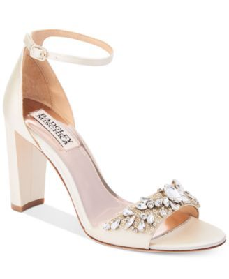 1ff78e5e4ad Badgley Mischka Barby Ankle-Strap Evening Sandals