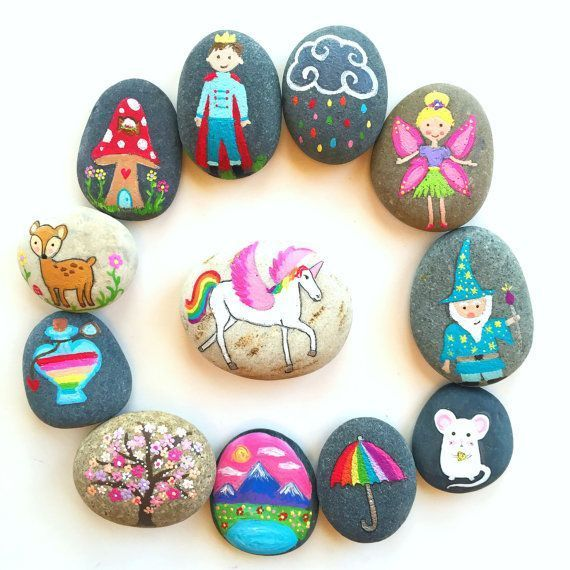 Story Stones And Painted Rocks Fairy By Thrive360Living Simple Rock Painting Idea