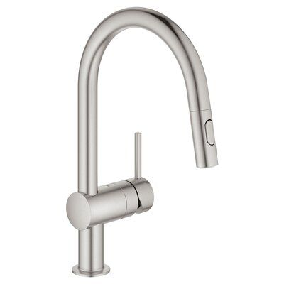 Grohe Minta Pull Out Single Handle Kitchen Faucet Faucet Pull