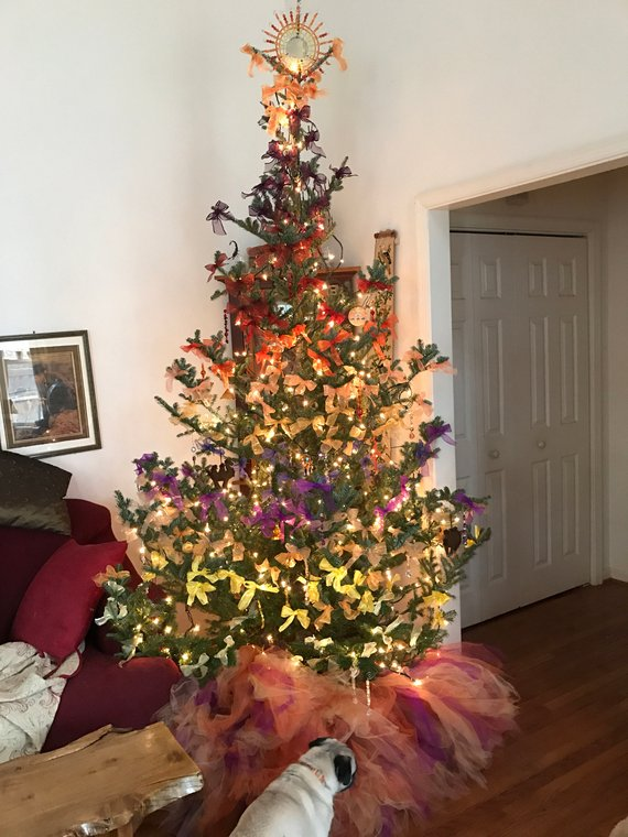 Christmas Tree In The Desert.Desert Themed Christmas Tree Skirt 54 Wide In 2019