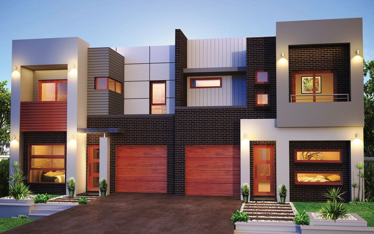 New Home Builders Forest Glen 50 5 Duplex Storey Home Designs Duplex Design New Home Builders Duplex House Design