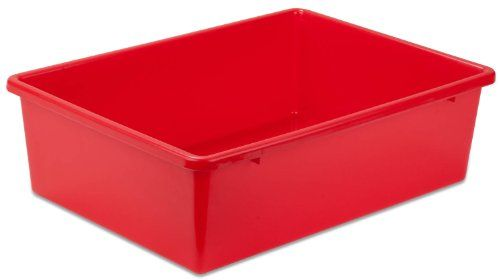Honey Can Do PRT SRT1602 LGRED Plastic Storage Bin, Large, Red Honey Can Do  Http://www.amazon.com/dp/B006Y79XE2/refu003dcm_sw_r_pi_dp_tfOsvb0G41AWM