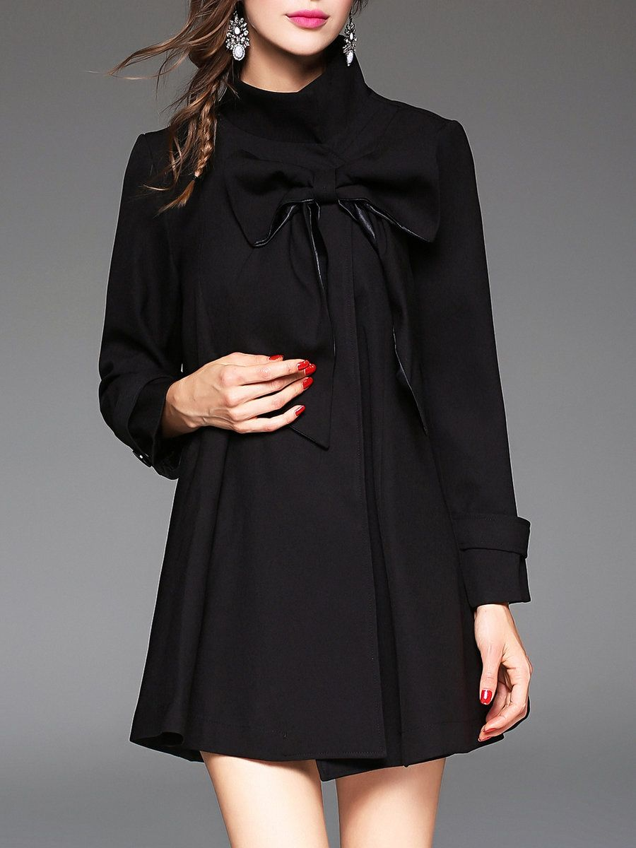 Jianshan long sleeve plain elegant turtleneck bow poncho and cape