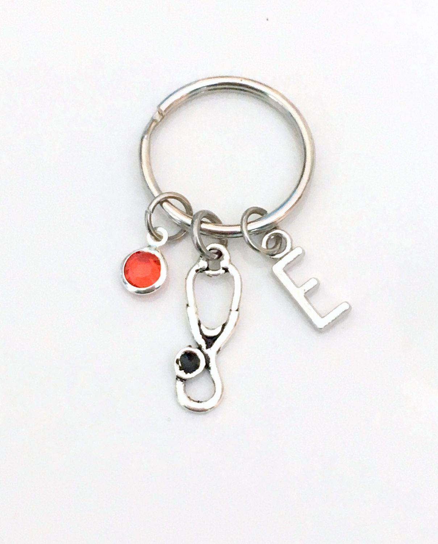 Stethoscope Key Chain, Gift for Medical Tool, Nurse Keychain Np BSN ...