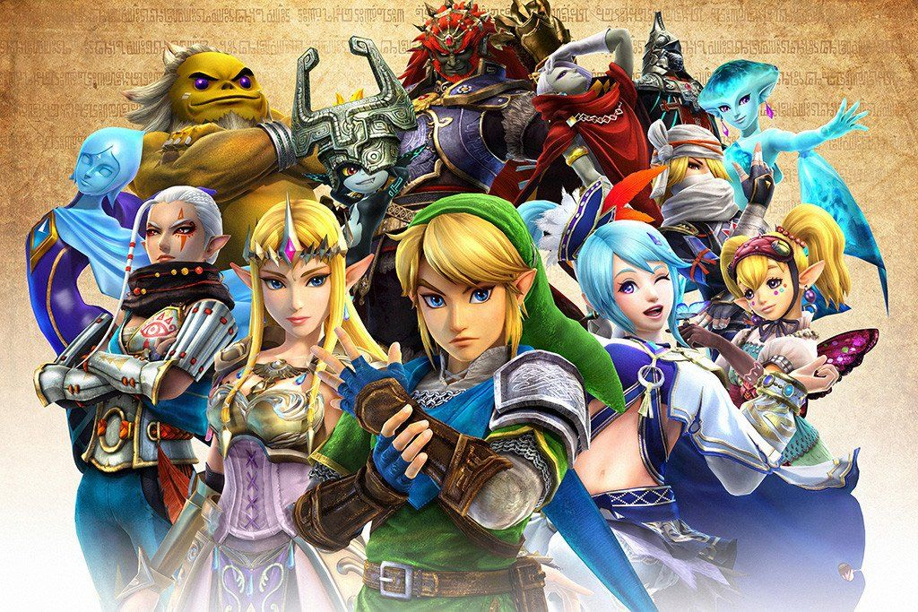The Legend Of Zelda All Characters Poster Legend Of Zelda Characters Legend Of Zelda Hyrule Warriors