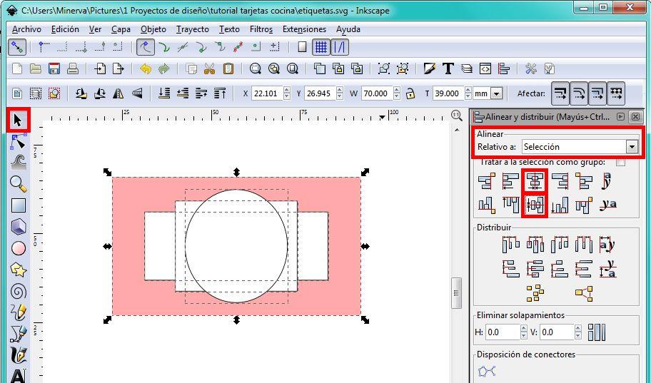 cómo diseñar tus propias etiquetas con Inkscape