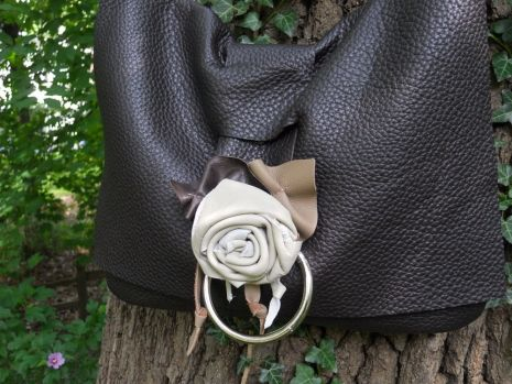 Beautiful handcrafted leather messenger bag