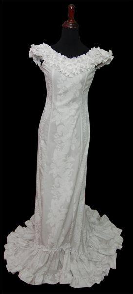 Beautiful Dress For A Hawaiian Or Tropical Wedding Long Train
