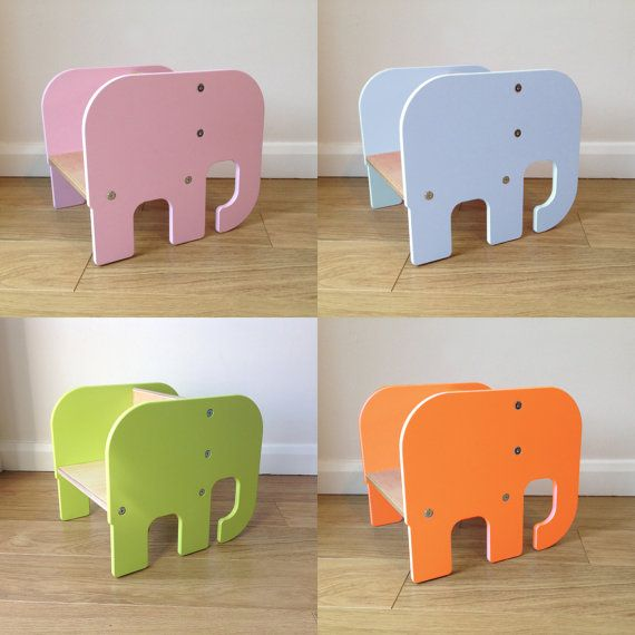 Elephant Animal Wooden Toddler Chair Age By Piggl