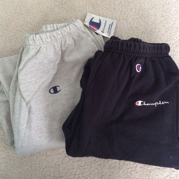 Two pairs champion sweatpants Gray pair NWT  73171ee7ee