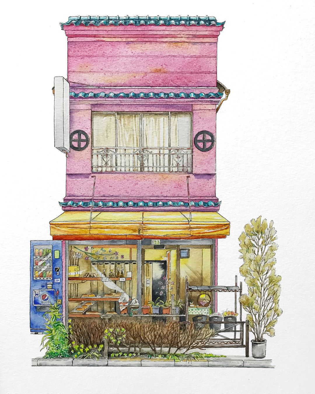 Architecture Watercolor Painting Painting Art Artist Artwork