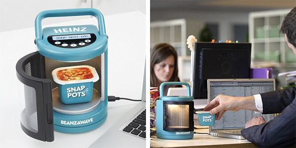 Heinz World S Smallest Usb Microwave Is The Portable And Ed By Port On A Laptop Computer
