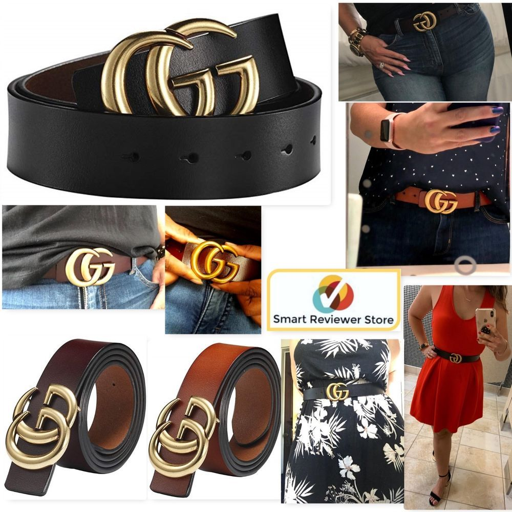 c88871e07 Women GG PU Leather WIDE Belts Fashion Gucci Logo Pattern For Jeans 1.5