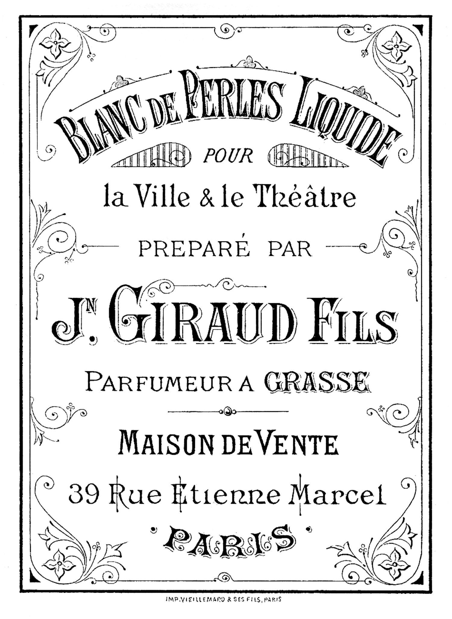 Vintage Perfume Label Image