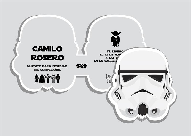 Pin De Alei N Q En Partys Star Wars Invitaciones De
