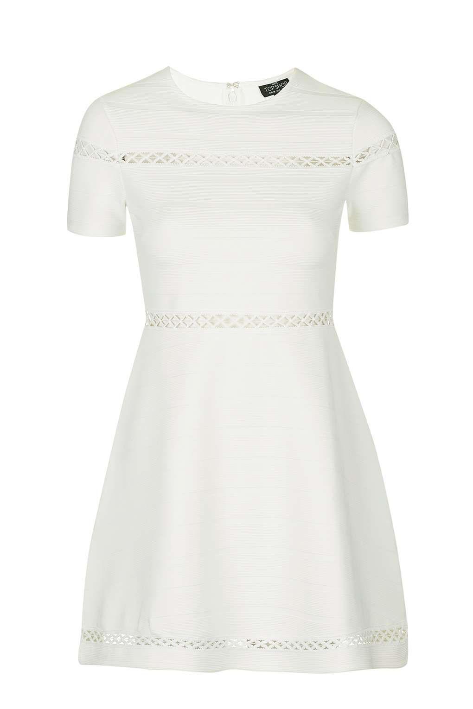 940b5e9c94 PETITE Bandage Embroidered Skater Dress - Dresses - Clothing - Topshop USA