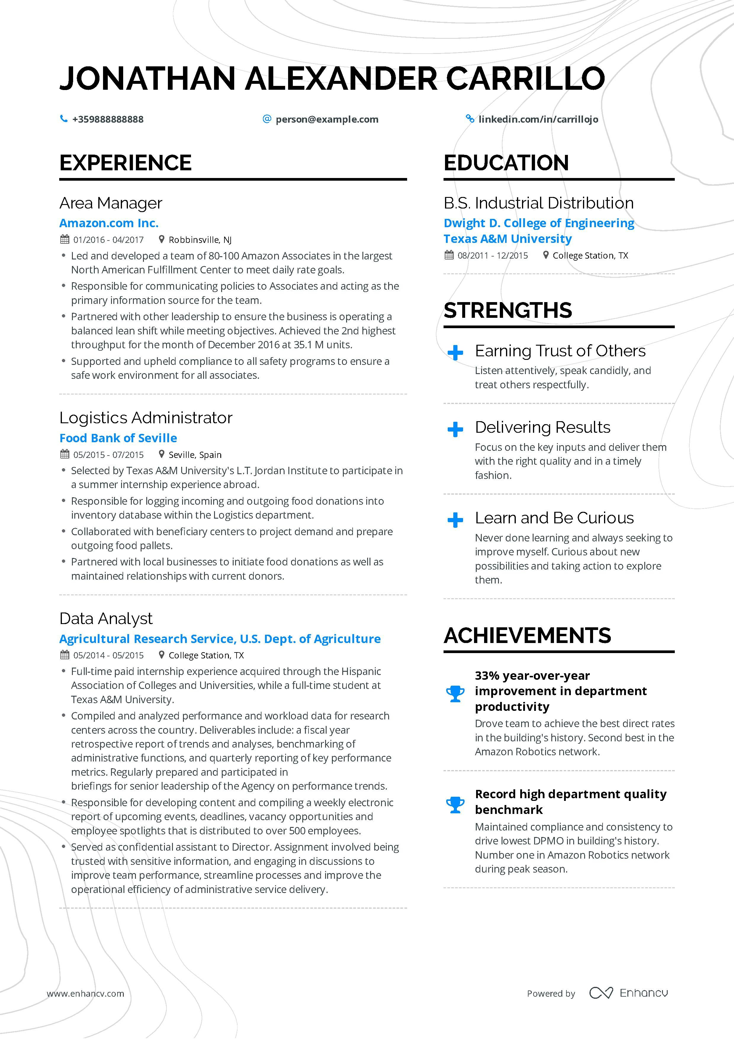 Operations Manager Resume Example For
