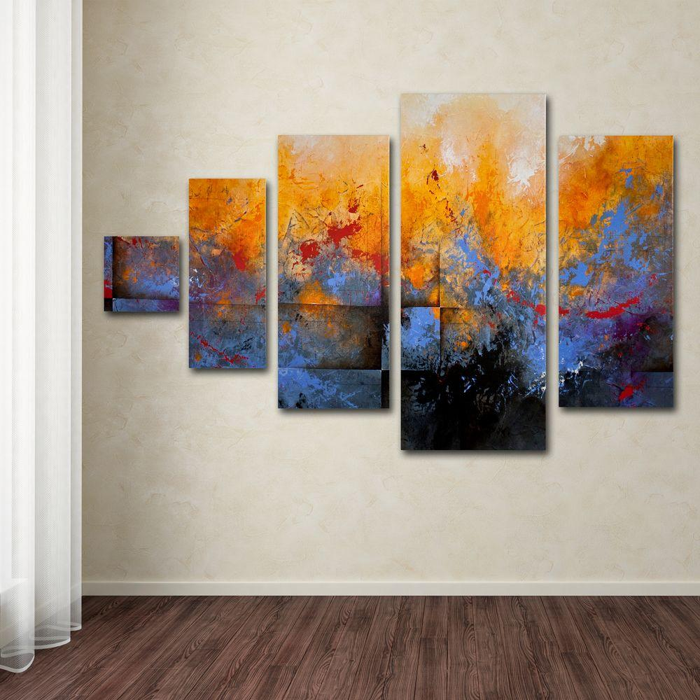 Trademark Fine Art My Sanctuary By Ch Studios 5 Panel Wall Art Set