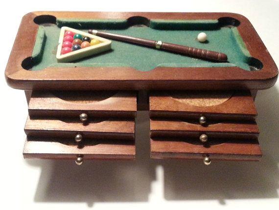 Rare Pool Table Billiards Coaster Set Mid Century Modern ...