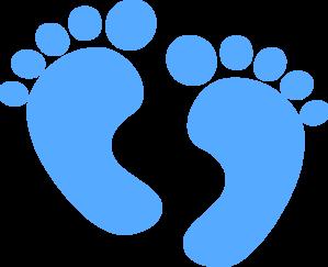 Baby Feet Blue Clip Art Vector Clip Art Online Royalty Free Public Domain Baby Clip Art Clip Art Baby Feet