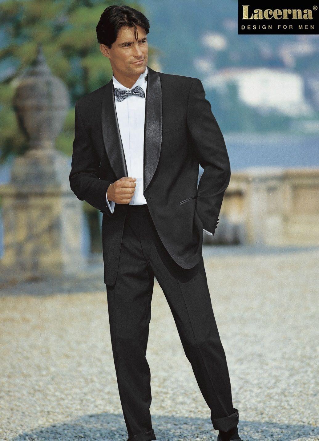 Details zu Smoking mit Hose Lacerna Anzug Schwarz Schalkragen 24 28 ...