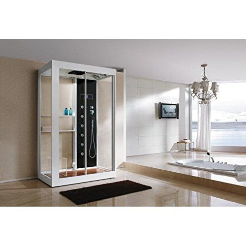 Echtglas Designer Dampfdusche B808 Sonderangebot 120 x 90