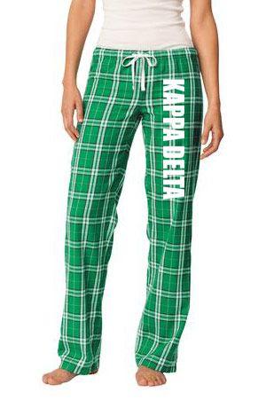 Kappa Delta Pajamas -  Flannel Plaid Pant