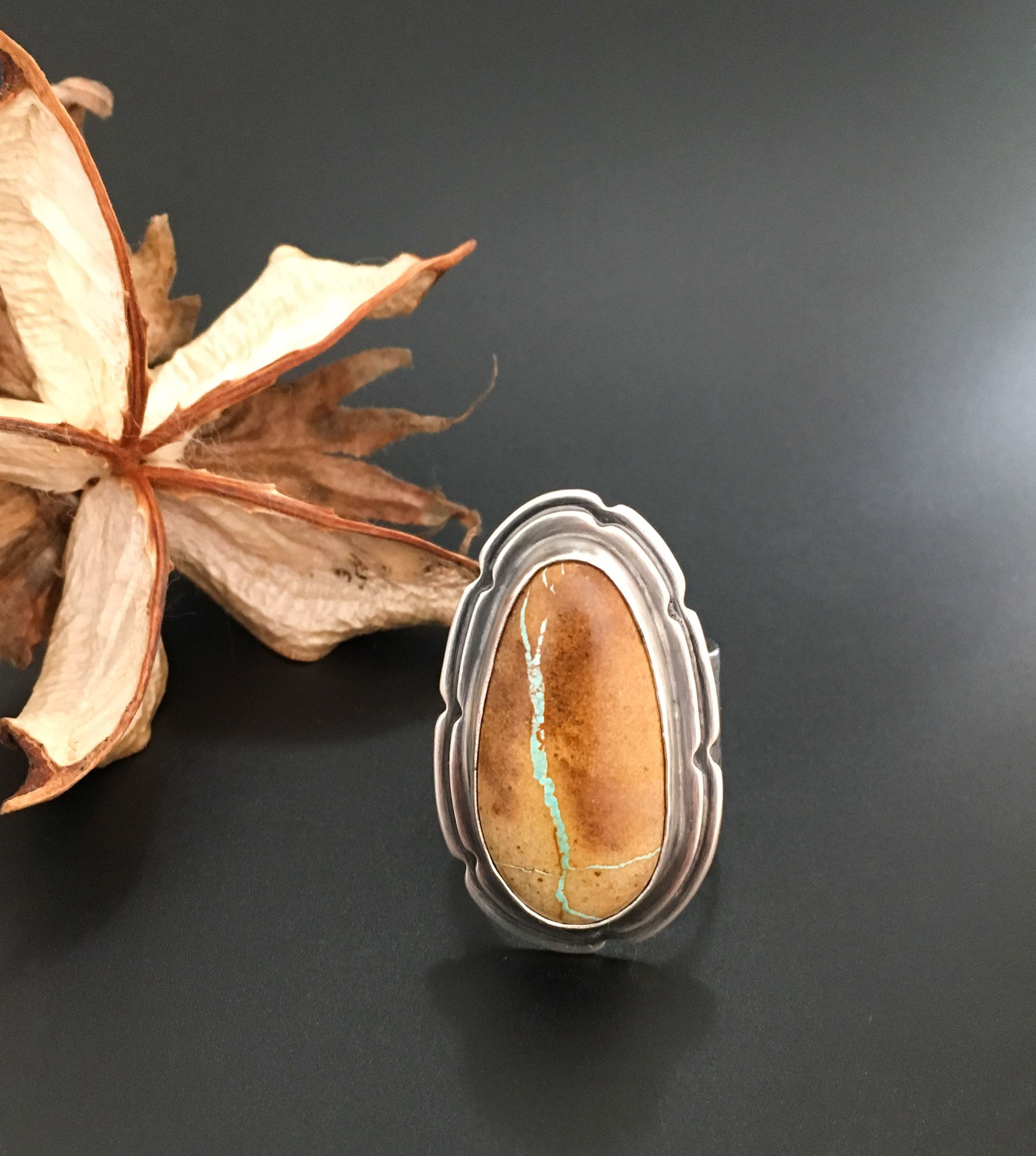 Sharon Rene Jewelry - Ribbon Turquoise Ring  www.sharonrenejewelry.etsy.com