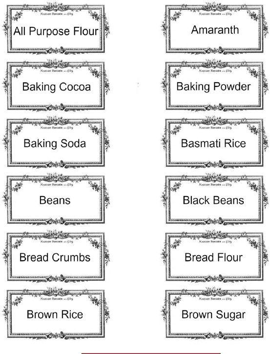 labels DAPUR SU Pantry labels, Kitchen labels, Printable labels