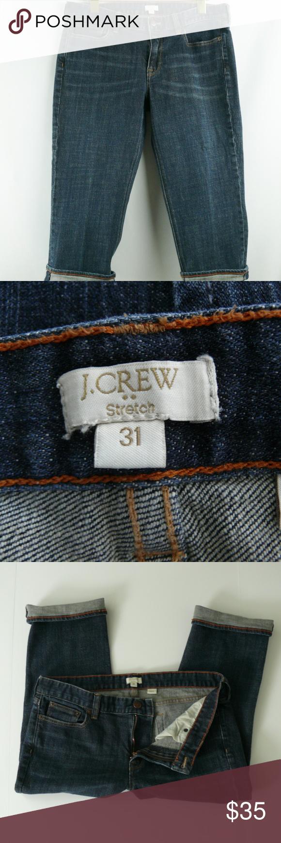 J crew factory capri jeans womens size crop