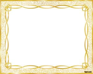 Gold Frame Template For Powerpoint Is A Sample Slide For