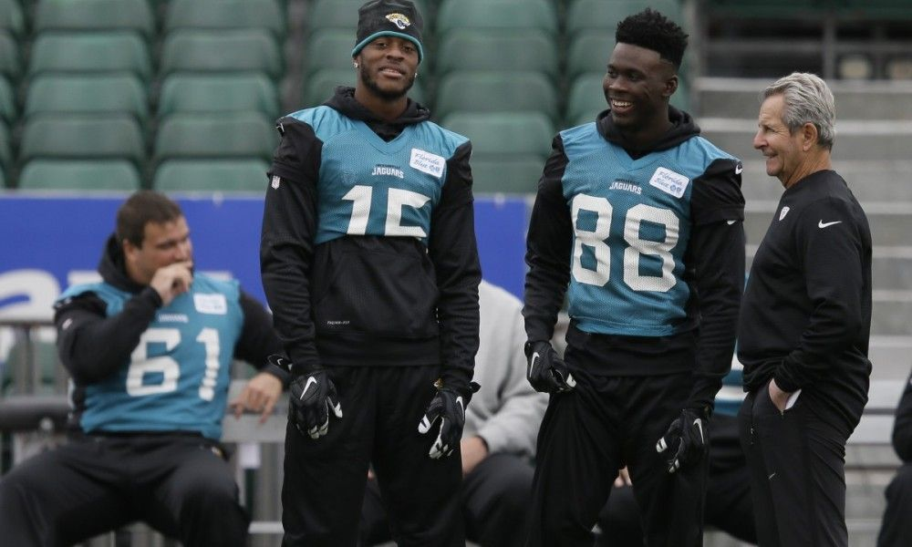 Jaguars have best receiving corps in AFC South = If there's one thing the Jacksonville Jaguars can do well, it's throw the football.  Quarterback Blake Bortles had his breakout season last year, tossing 35 touchdowns and throwing for 4,428 yards. And as good as....