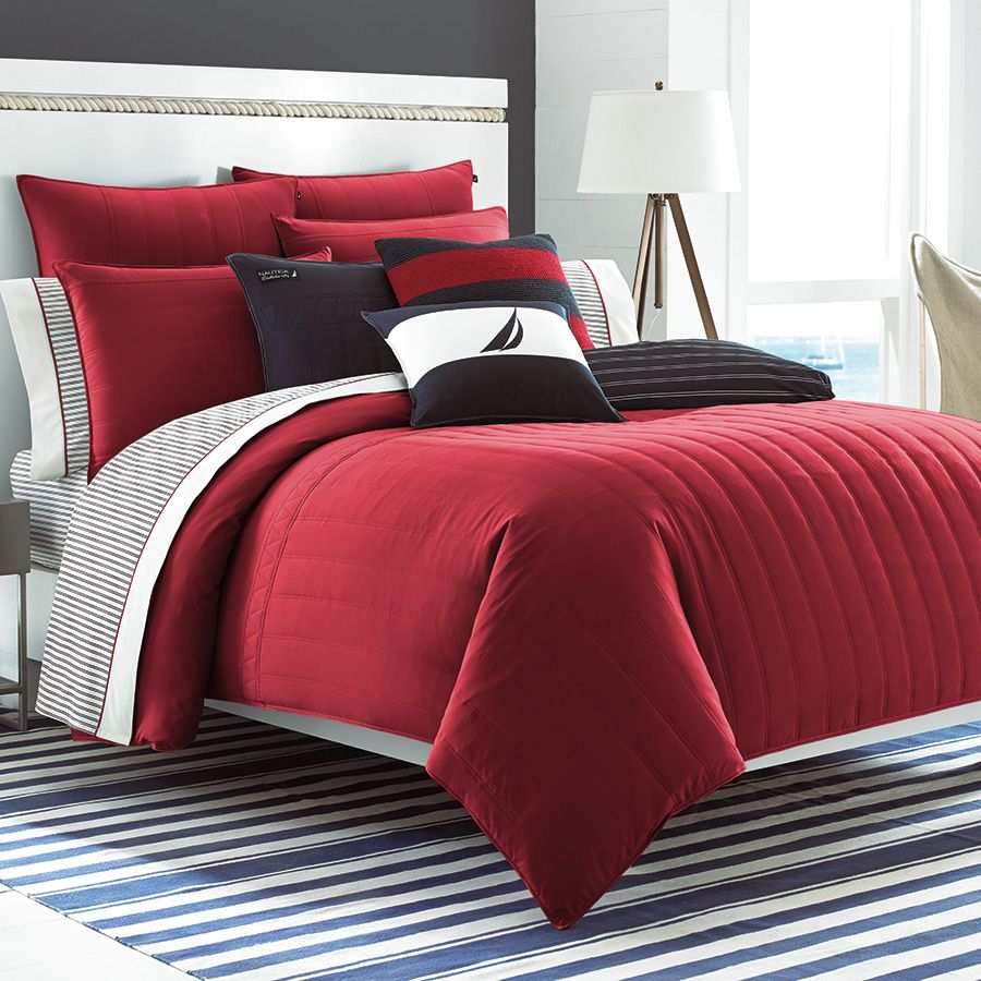 Nautica Mainsail Red Comforter Set. #BeddingStyle #bedroom ... : red quilt sets - Adamdwight.com