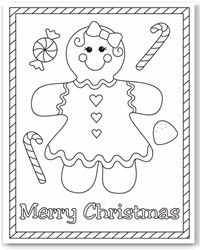 free christmas printables coloring pages - Gingerbread Man Coloring Pages Free