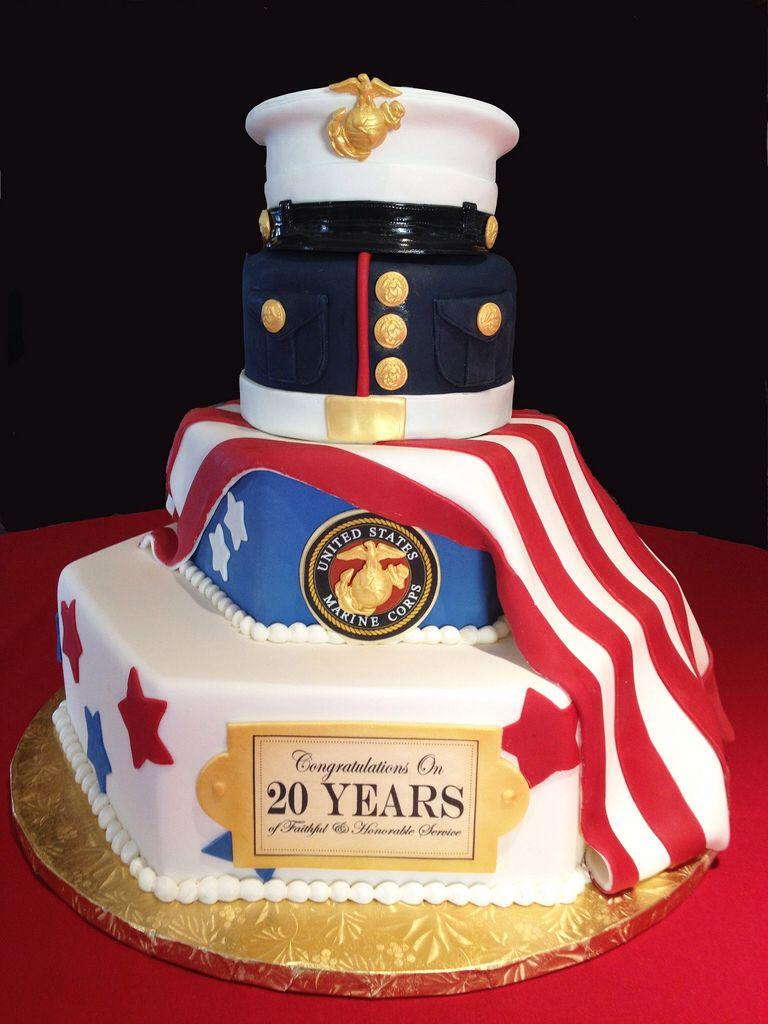 Marine Corps Retirement Cake Army Retirement Retirement Cakes