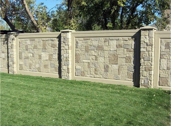 Precast Fencing The Columns And Detail Fence Gate Design