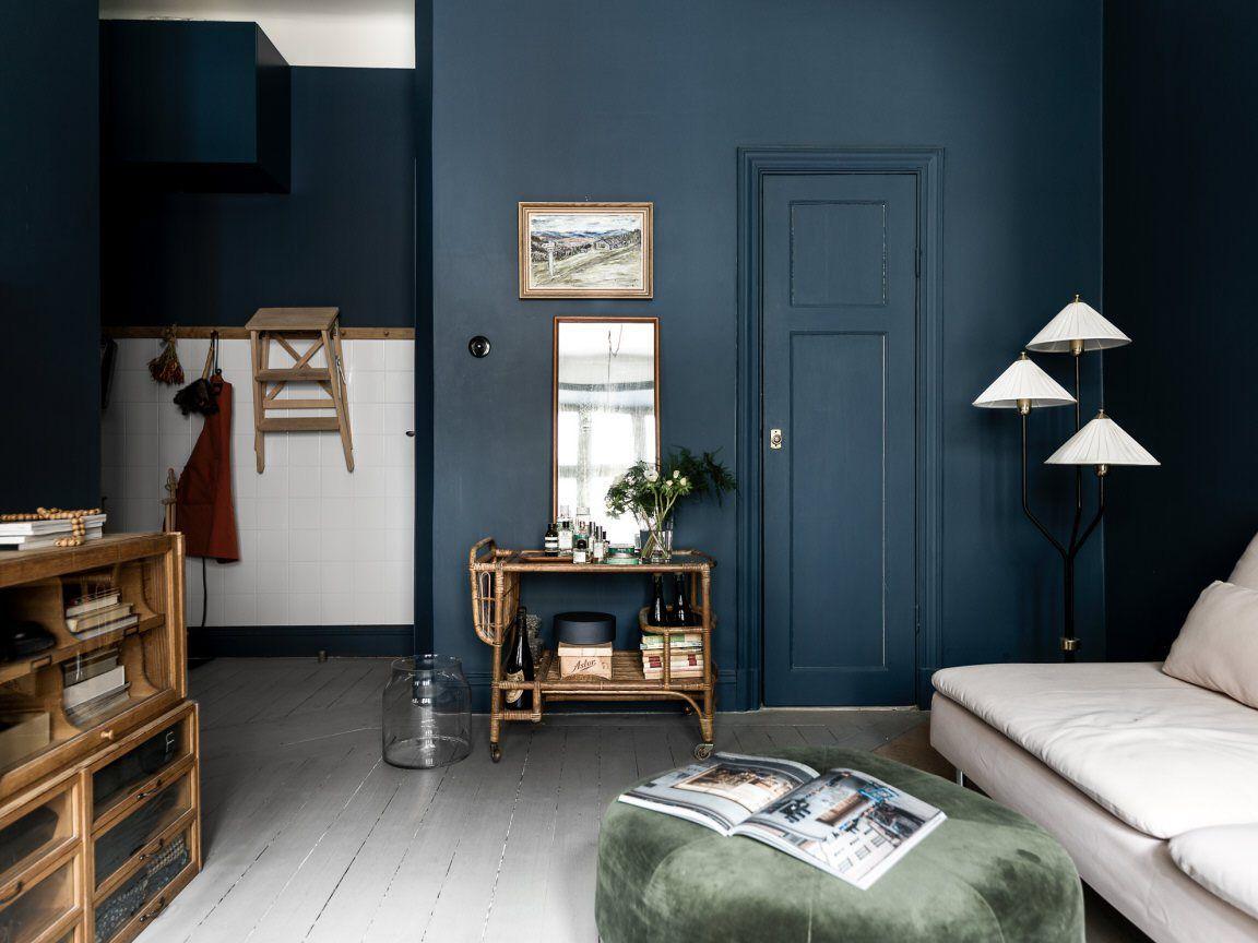 Couleur Gris Bleu Foncé en gris bleu | deco, salon rustique et intérieurs sombres