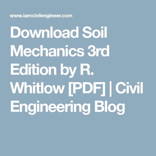 Pdf basic whitlow soil mechanics