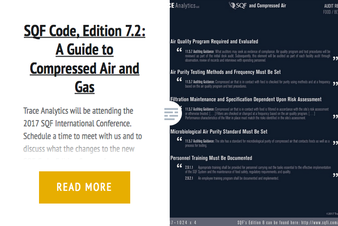 SQF Code, Edition 7 2: A Guide to Compressed Air and Gas