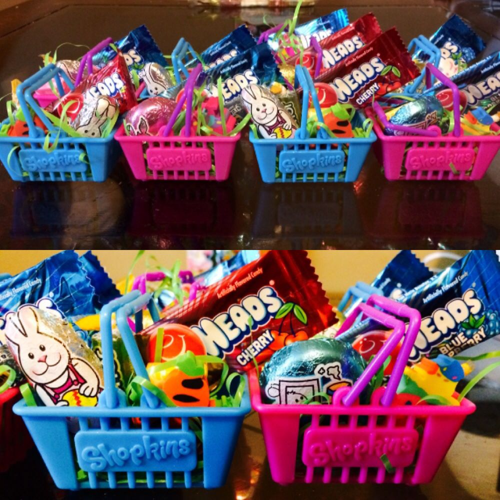 Shopkins baskets easter treats for ryleighs class easter shopkins baskets easter treats for ryleighs class negle Choice Image