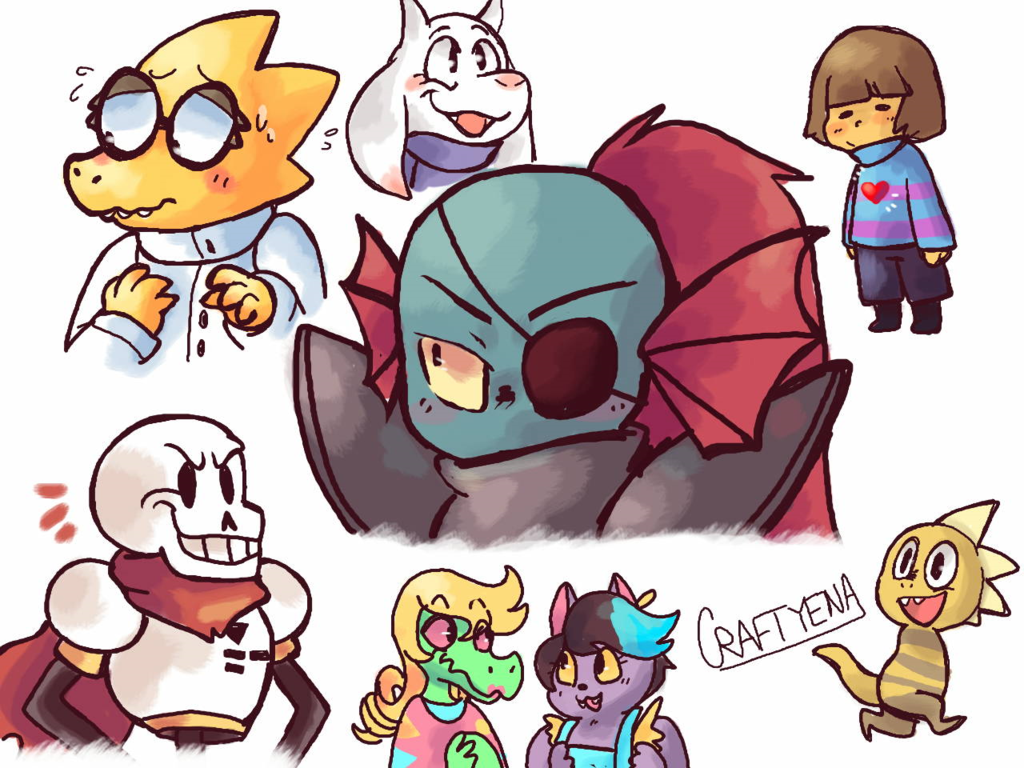 Another Drawing Of Undertale Characters Undertale Undertale