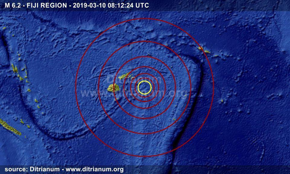 Earthquake M 6 2 - FIJI REGION - 2019-03-10 08:12:24 UTC