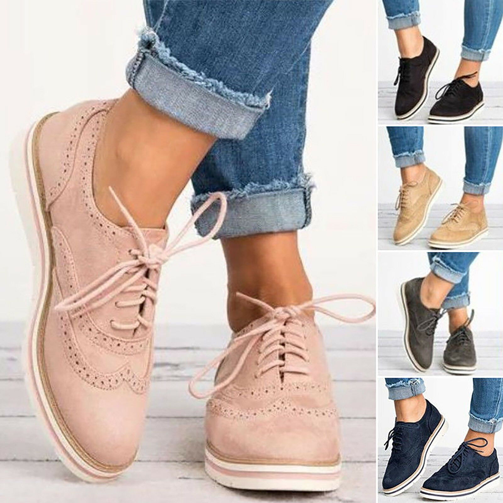 Womens Casual Shoes WingTip Brogues