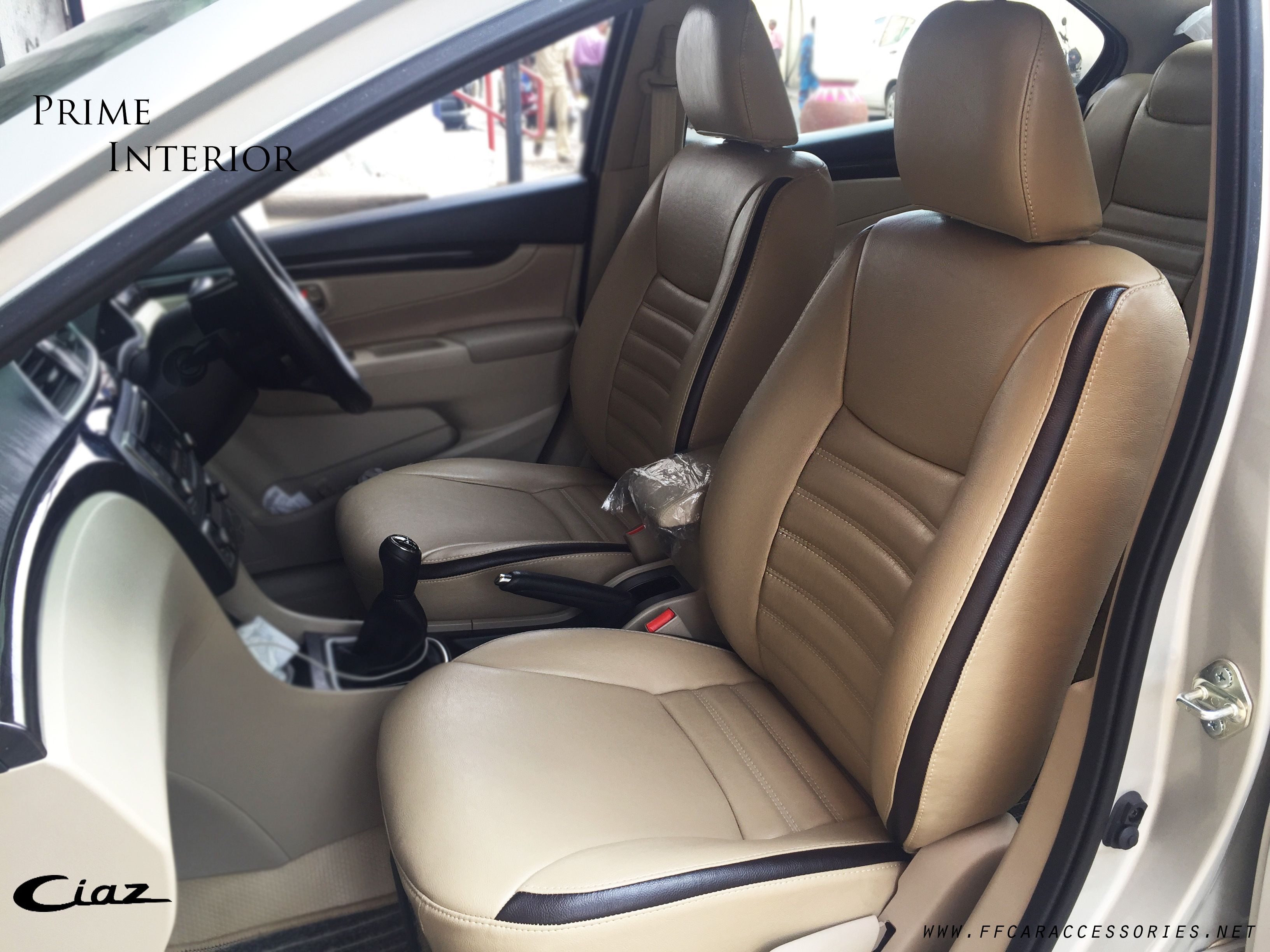 Maruti Ciaz Custom Made Seat Covers Installed By Team Ff Car